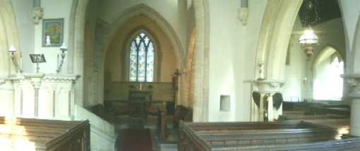 Interior of Elberton Church
